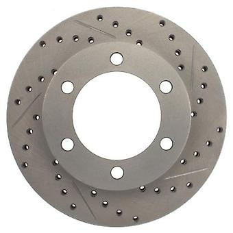 StopTech 227.44109L Select Sport Drilled and Slotted Brake Rotor; Front Left