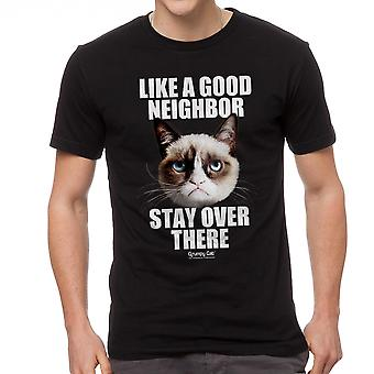 Grumpy Cat Good Neighbor Men's Black Funny T-shirt
