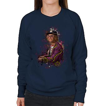 TV Zeiten Elton John am Klavier Damen Sweatshirt