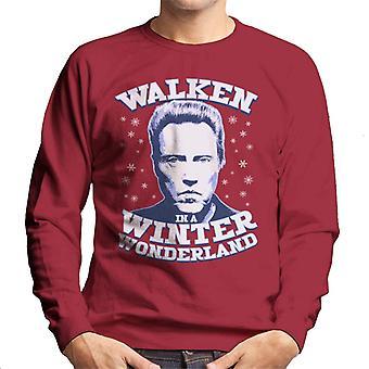 Christmas Christopher Walken In A Winter Wonderland Men's Sweatshirt