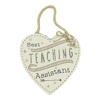 Wooden Heart Best Teacher Plaque