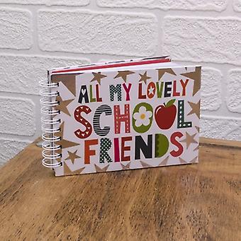 Alle vennene mine herlige skolen autograf bok