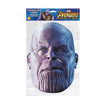 Thanos Infinity Krieg offiziellen Marvel 2D Einzelkarte Party Gesichtsmaske