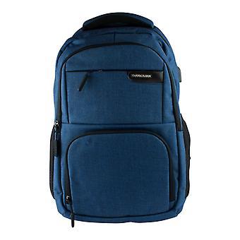 15,6 Zoll Laptop Rucksack/USB-Anschluss, große Kapazität-blau