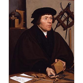 Portrait of Nikolaus Kratzer, Hans Holbein, 50x40cm