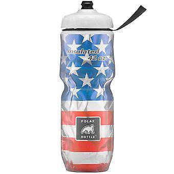 Butelkę Polar Sport duży 42 uncji izolowana butelka wody - gwiazdy & paski