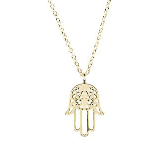 Latelita 925 Sterling Silver Pendant Hamsa Hand Fatima Necklace Rose Gold