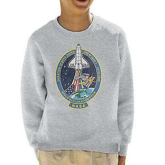 NASA STS 116 Discovery Mission Badge Distressed Kid's Sweatshirt