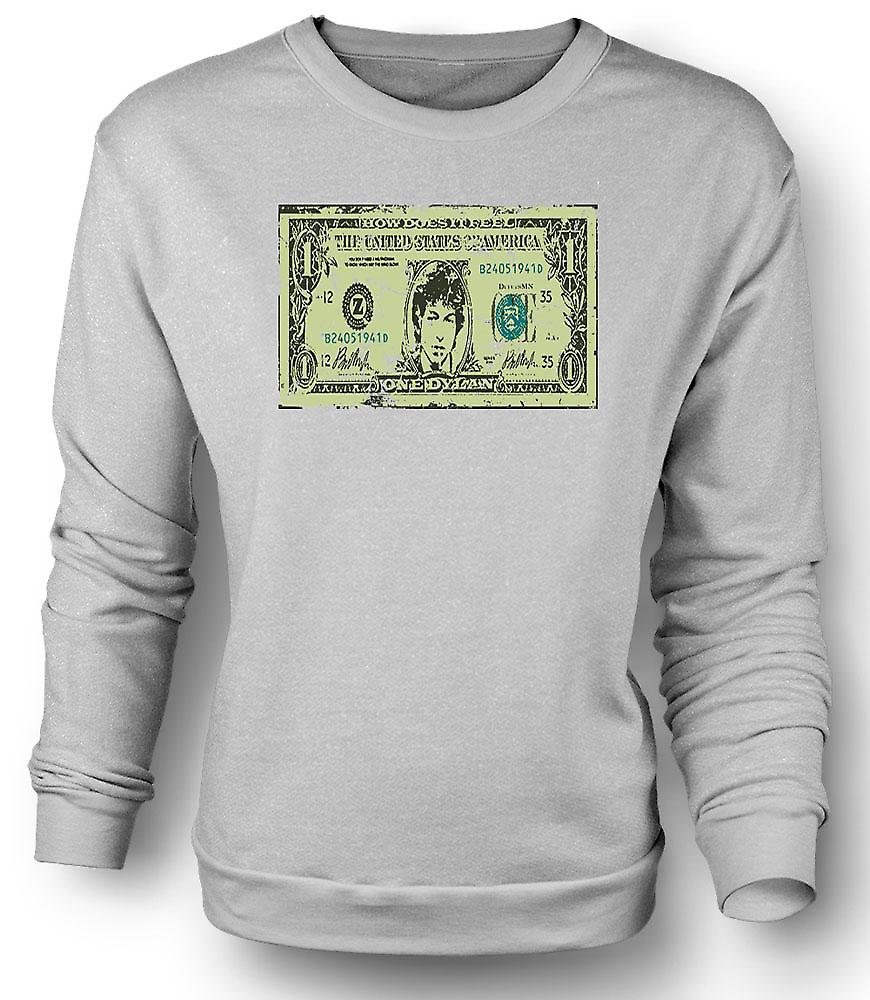 Mens Sweatshirt Bob Dylan One Dylan - Funny