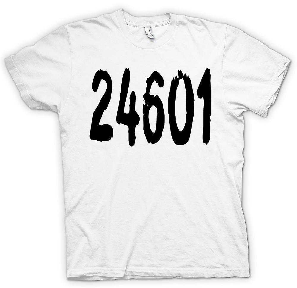 Womens T-shirt - 24601 - Jeann Valjean gevangenis nummer