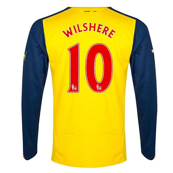 2014-15 Arsenal Long Sleeve Away Shirt (Wilshere 10)