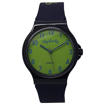 Tokyo Laundry Unisex Lime Green Dial Black Silicone Strap Watch TKL16C