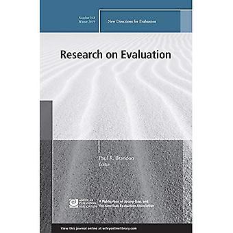 Ricerca sulla valutazione: nuove direzioni per la valutazione, numero 148 (J-B PE singolo problema (programma) valutazione)