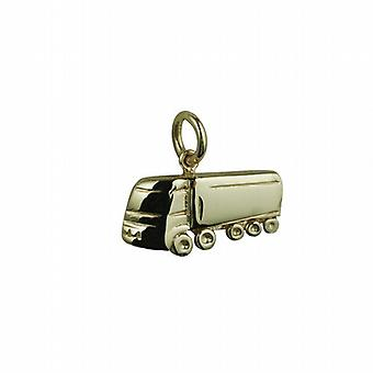9ct Gold 10x20mm hollowed out at back HGV Pendant or Charm