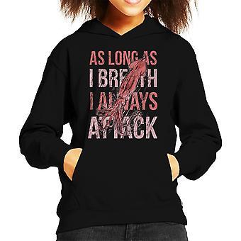 Kwallen die ik altijd aanvallen citeer Kid's Hooded Sweatshirt