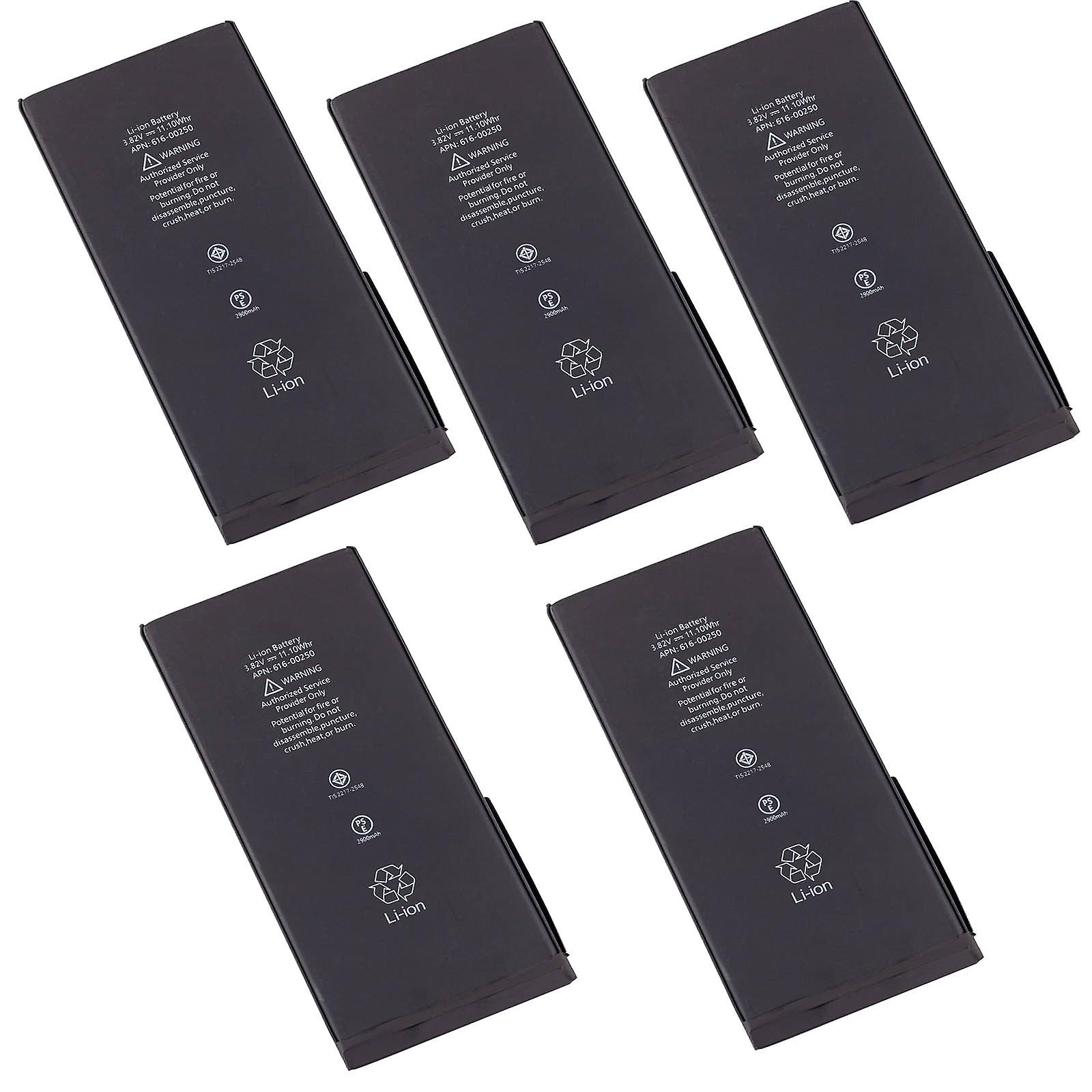 5 Pack lot set of Battery for Apple iPhone 7 Plus, 7+, A1661 A1784 616-00249