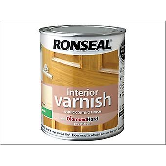 Ronseal Interior Varnish Quick Dry Matt Clear 2.5 Litre