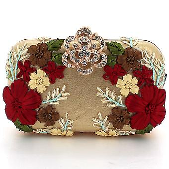 Aarz London Stacie- Flower Embroidered Clutch