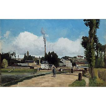 Banks of the Oise at Pontoise,Camille Pissarro,60x38cm