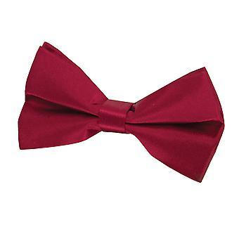 Dobell Mens Burgundy Bow Tie 100% Silk (Pre-Tied & Self-Tie)