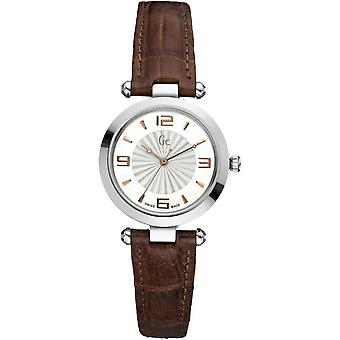 Watch GC X17001L1 - Leather Brown woman