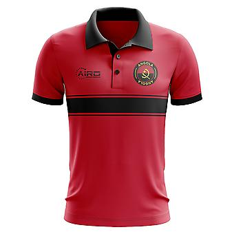 Angola Concept Stripe Polo Shirt (Red)-Kids