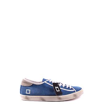 D.a.t.e. Light Blue Fabric Sneakers