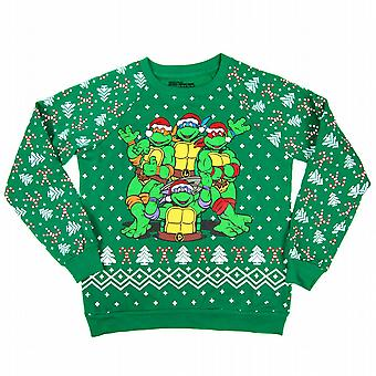 Freeze Womens Teenage Mutant Ninja Turtles Christmas Sweatshirt Green