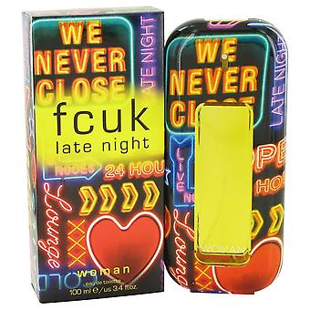Fcuk Late Night Eau De Toilette Spray By French Connection 100 ml
