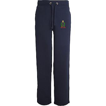 Royal Pioneer Corps Veteran - Licensed British Army Embroidered Open Hem Sweatpants / Jogging Bottoms