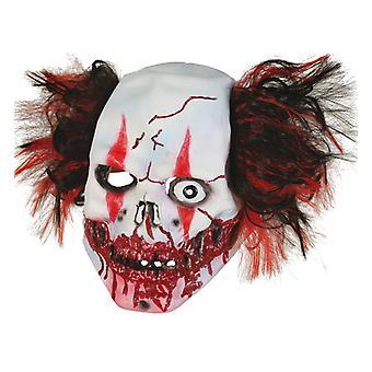 Horror klovn uhyggelig tre fjerdedele maske Halloween shocker