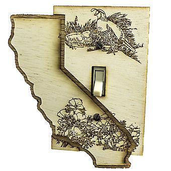 California switch plate - raw wood - 4.8