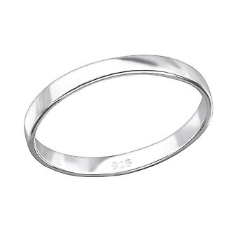 Band - 925 Sterling Silver Plain Rings - W26706X