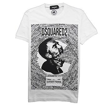 Dsquared2 Caten Twins Mouth Tee White