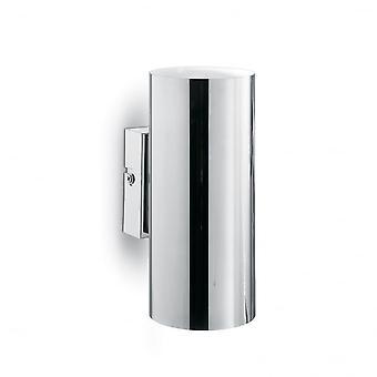 Ideal Lux poliert Chrome Modern Up Down Cylinder Wandleuchte