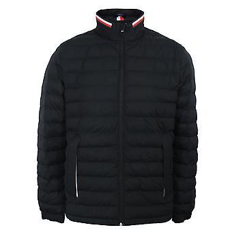 Tommy hilfiger stretch quilted men's jet black jacket