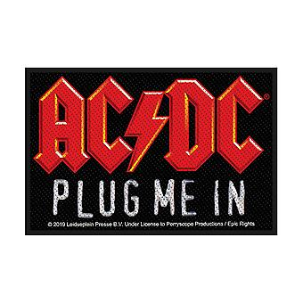 AC/DC plugg meg i sy-på klut patch 100mm x 65mm (RZ)