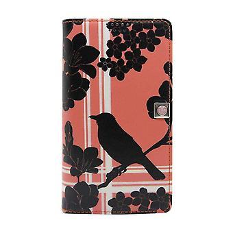Medium Universal Slider Folio Pink - Black Bird