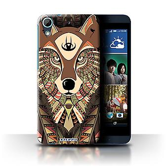 STUFF4 Case/Cover for HTC Desire 626G+/Wolf-Sepia/Aztec Animal