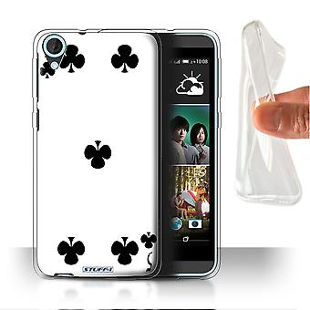 STUFF4 Gel/TPU Case/Cover for HTC Desire 820s Dual/5 of Clubs/Playing Cards