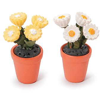 Timeless Miniatures Potted Daisies 2 Pkg 2318 68
