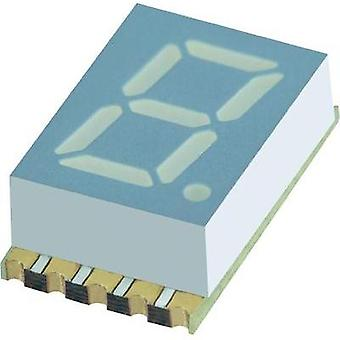 Seven-segment display Yellow 7.62 mm 1.95 V No. of digits: 1 Kingbright