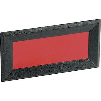 Face frame Black, Red (W x H) 64 mm x 28 mm Acry