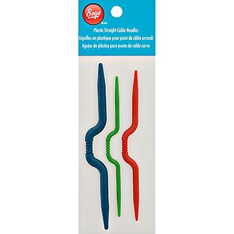 Plastic Straight Cable Needles-3/Pkg 3401007