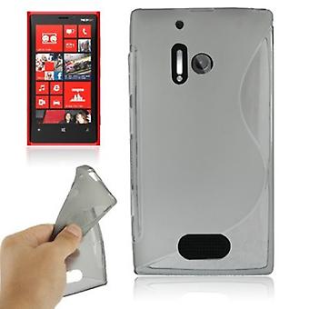 Mobile Shell S line TPU case voor Nokia Lumia 928 grijs