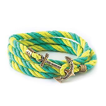 Kiel James Patrick life aquatic anchor bracelet turquoise-yellow