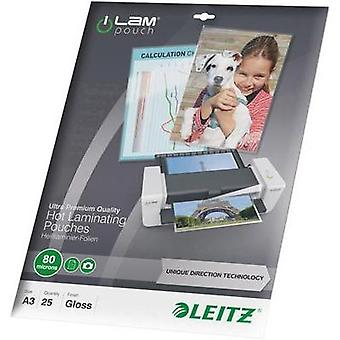 Laminate sheet Leitz DIN A3 80 micron glossy