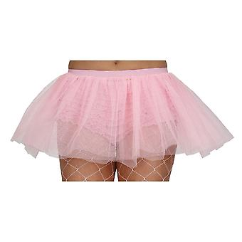 Wicked Ladies Baby Pink Tutu 3 Layer Fancy Dress Hen Party Accessory