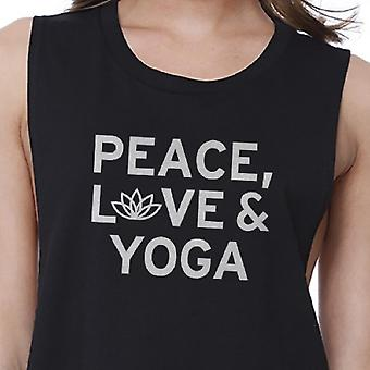 Peace Love Yoga Crop Top Yoga Work Out Tank Top Cute Yoga T-shirt