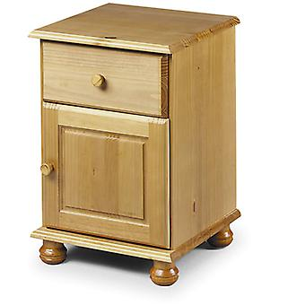 Crenby Pine Bedside 1 Drawer + 1 Door Fully Assembled Option